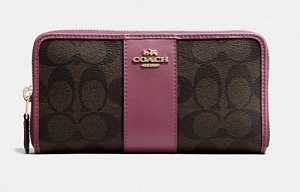 COACH-Accordian-Zip-Wallet-In-Signature-IM-Brown-Rouge-F54630